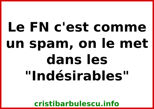 fn indésirables spam