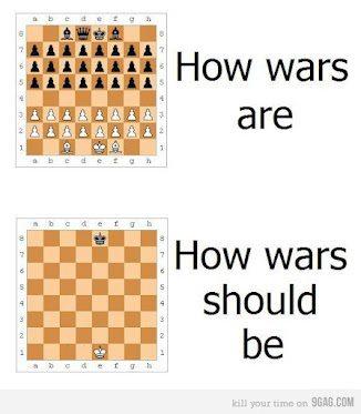 comment les guerres devraient être p