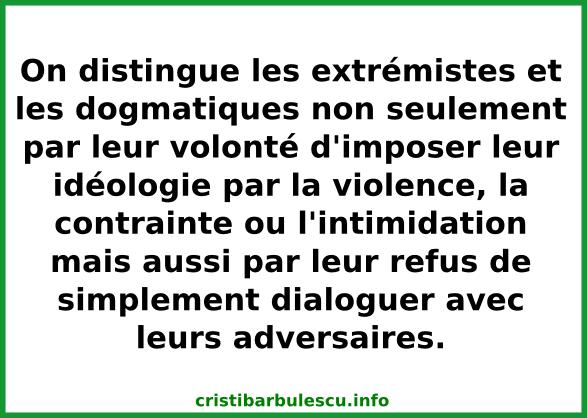 distinguer extrémistes